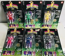 1993 Bandai Europe Power Rangers Complete Set Series 1 Auto Morphin Figures MOSC