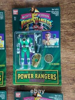 1994 Bandai vintage Power Rangers action figure set with blue Billy mint sealed