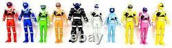 2017 Bandai Power Ranger Set Of 10 Uchu Sentai Kyuranger Loose 6 Figures Hero