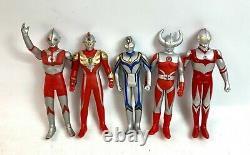 BANDAI Lot of 30 Ultraman + Ultra Monster Figure set Soft Vinyl 10in Japan Fedex