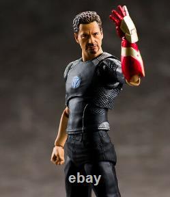 BANDAI S. H. Figuarts Tony Stark with Powered Stage & IRONMAN Mark 42 figure set