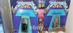 BANDAI, Terrahawks, full set carded boxed figures and ships. Gerry anderson. RARE