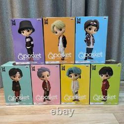 BTS TinyTAN Q Posket Figure A color Set of 7 Banpresto Qposket withTracking#