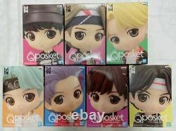BTS TinyTAN Q Posket Figure B color Set of 7 Banpresto Qposke NEW JP
