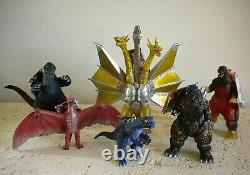 Bandai 1996 Godzilla Forever Series Complete 6 Piece 8 Scale Figure Set New
