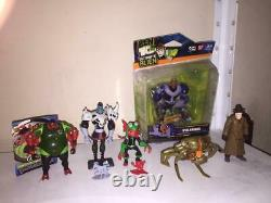 Ben 10 Bandai Collection Set Lot of 9 Figures and Toys Used