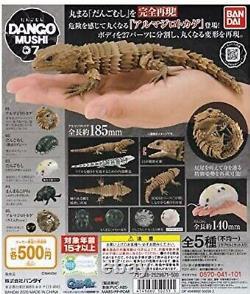 Dango Mushi Pill Bugs Figure Vol. 7 Gashapon Armadillo Lizard All Set of 5