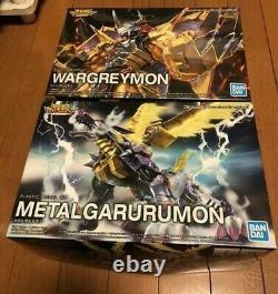 Digimon Adventure WarGreymon metal Garurumon Set AMPLIFIED Figure rise BANDAI