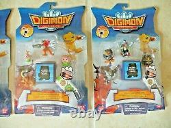 Digimon Data Squad LALAMON, FALCOMON, GAOMON, AGUMON, DATA LINK Figure Pack Set 4