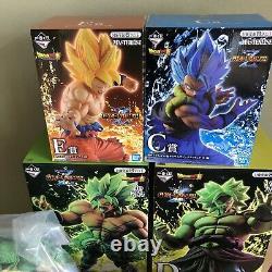 Dragon Ball Ichiban Kuji 8 type figure set A, B, C, D, E, F, last one, Goku day