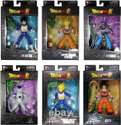 Dragon Stars Series 1 & 2 Action Figure Set Goku, Vegeta, Beerus, BAF Shenron+