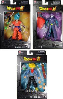 Dragon Stars Series 3 Action Figure Set SSGSS Goku, SS Future Trunks & Hit