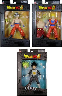 Dragon Stars Series 7 Action Figure Set Ultra Instinct Goku, Vegeta, SS Gohan