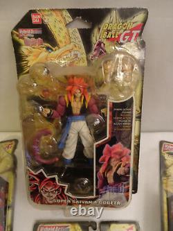 Dragonball GT Set of 4 Hybrid Action Figures Goku Vegeta Gogeta 2007 Bandai RARE