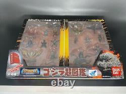 Godzilla 50th Anniversary Super Picture Book 16 Figure set BANDAI 2004