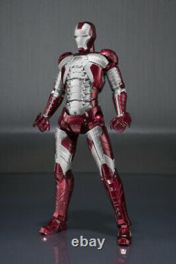 IRON MAN Mark V & Hall of Armor Set S. H. Figuarts Action Figure Bandai Tamashii