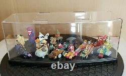 Konami & Bandai Wacky Races Figure Set very RARE with Acrylic Case