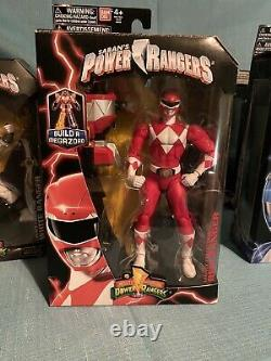 Mighty Morphin Power Rangers Legacy Build A Zord 7 Figure Set MMPR