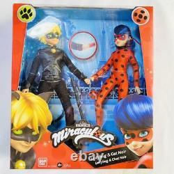 Miraculous Ladybug & Cat Noir Fashion Dolls Figure Set Bandai Brand