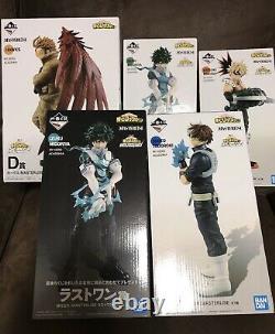 My Hero Academia figure 5 set Ichiban Kuji Deku Bakugo Todoroki Hawk anime manga