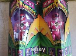Nib 1993 Mighty Morphin Power Rangers Bandai 8 Toy Figure Set 5 Original Box