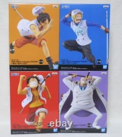 ONE PIECE magazine FIGURE Luffy Ace Sabo Garp 4 set BANPRESTO BANDAI Anime 17cm