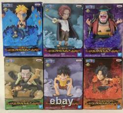 One Piece WCF World Collectable Figure BURST 6 set luffy ace shanks CROCODILE