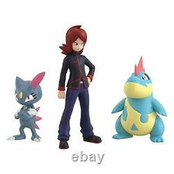 Pokemon scale World Figure set Johto region Silver & Croconaw & Sneasel BANDAI