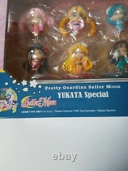 SAILOR MOON Yukata Special Petit Chara Festival Megahouse Mini Figure Set 2016