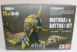 S. H. MonsterArts MOTHRA&BATRA SET BANDAI GODZILLA FIGURE