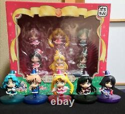 Sailor Moon Petit Chara Christmas Special Set Inner and Outer Senshi Bandai