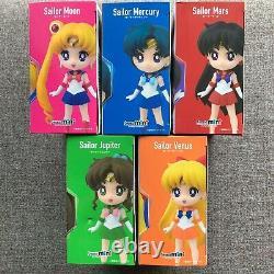 (Set of 5) Figuarts mini Sailor Moon Mercury Mars Jupiter Venus BANDAI Figure