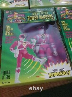Set of all 5 Mighty Morphin' Power Ranger MMPR Karate Action 8 figures MIB 1994