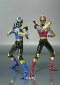 USED S. H. Figuarts Lightning Speed Gouraiger Set Figure Ninpu Sentai Hurricaneger